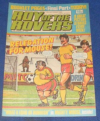 Roy Of The Rovers Comic 18Th September 1982  Sign Please Mark Hateley