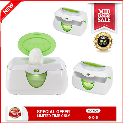 Munchkin Warm Glow Wipe Warmer Baby Diaper Infant Care Green Wipes With Storage