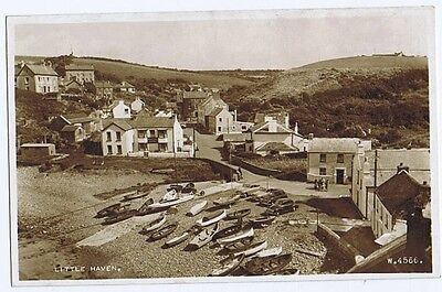 LITTLE HAVEN RP Showing Castle Hotel Postcard by Valentine, Unused