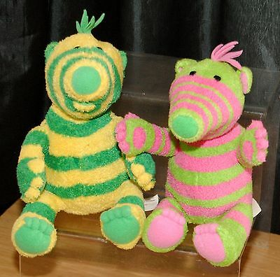 The Fimbles Set Of 2 Small 7 Inch Soft Toys Fimbo & Baby Pom By Fisher Price Exc