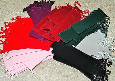 Velvet Drawstring Pen Pouches