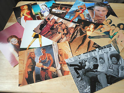 spice girls mystery lot of photo  cards whats in picture plus more