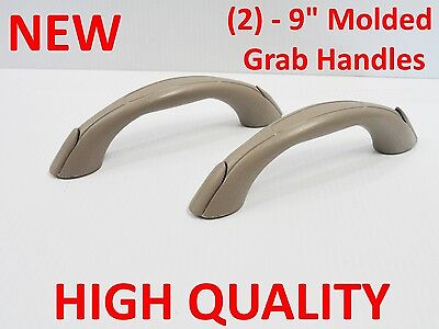 "2 NEW Vinyl Grab Handle 9"" Molded Boat RV Truck UTV Sailboat Safety Jeep 2052-1"