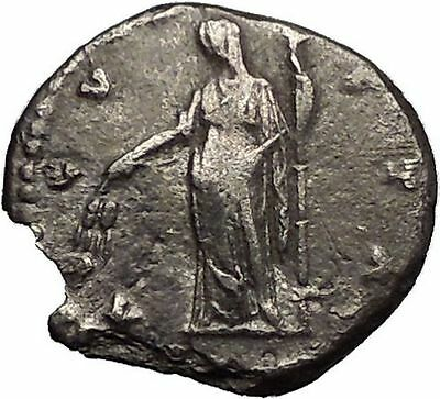 Faustina I 148AD Silver Rare Ancient Roman Coin Posthumous Issue Ceres i56215