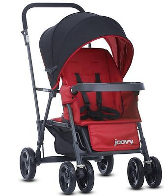 Joovy Caboose Graphite Double Stand On Twin Tandem Stroller Red NEW 2016