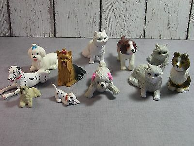 Barbie Mattel bobblehead lot of 6  Poodle Collie 3 cats Spaniel with 5 others