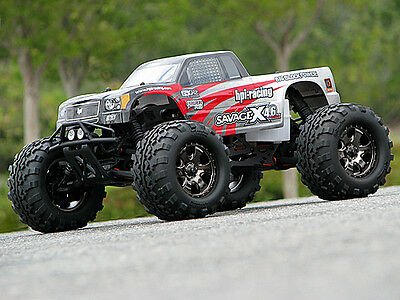 Hpi 105532 Gt-3 Truck Body Savage [Clear 1/8Th Monster Truck Body Shells] New!