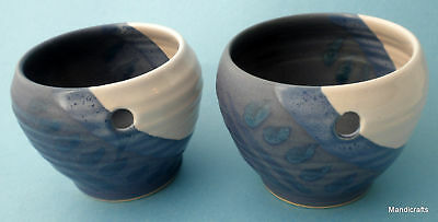 Hilborn Canada Rice Bowl Set of 4 Blue Matched Set Crocus Planters Art Pottery
