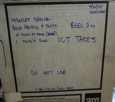 Billy Preston & TONTO (Cecil and Margouleff)-Reel To Reel Master Tape OUT TAKES!