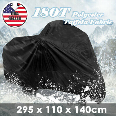 XXXL Black Motorcycle Cover Fits Harley Davidson Electra Glide CVO Ultra Classic
