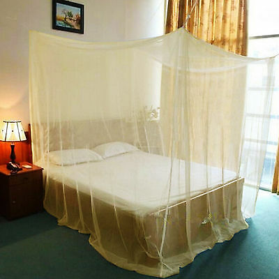 Mosquito Net Double Queen King Size Box Fly Insect Bug Protection Netting Yellow
