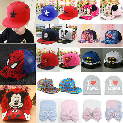 Casual Baby Kids Girls Boys Lovely Sun Hat Hip Hop Snapbacks Sports Baseball Cap