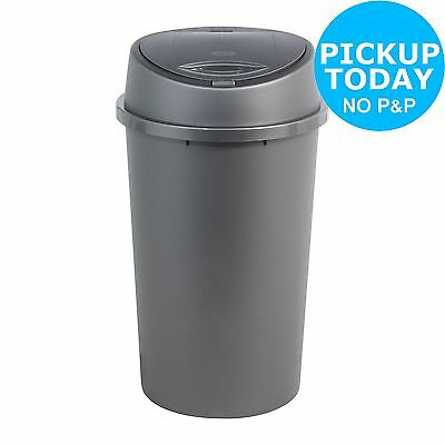 HOME 45 Litre Touch Top Kitchen Bin- Silver.From the Official Argos Shop on ebay