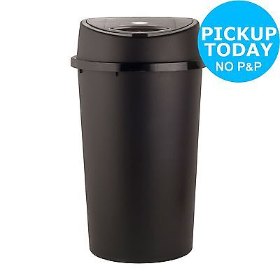 HOME 45 Litre Touch Top Bin - Black and Silver -From the Argos Shop on ebay