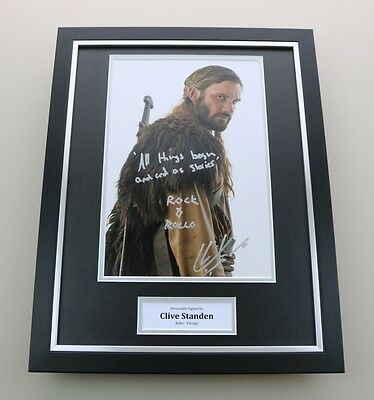 Clive Standen Signed Photo Framed 16x12 Vikings Autograph Memorabilia Display