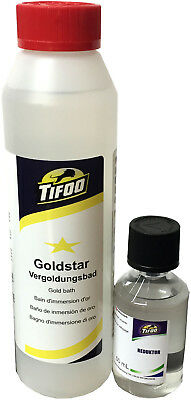 Gold-Star Goldbad (250 ml) - Stromlos vergolden, Alternative zu Gold-Elektrolyt