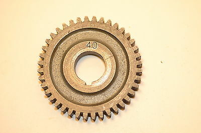 "Excellent MYFORD UK CHANGE GEAR WHEEL 40 TOOTH 5/8"" keyed bore ML7 Super 7 LATHE"
