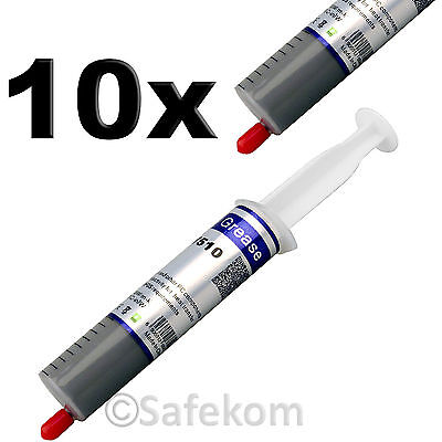10x Silicone Thermal Heatsink Compound Cooling Syringe For PC CPU VGA Processor