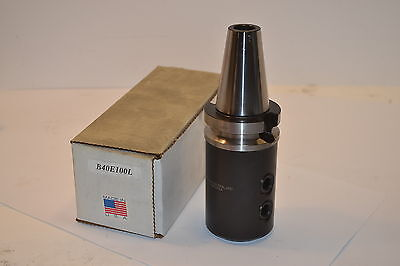 "NOS AMERICAN SUN USA  Bt 40  B40E100L BT40 1"" Long END MILL HOLDER  Item WL30.2"