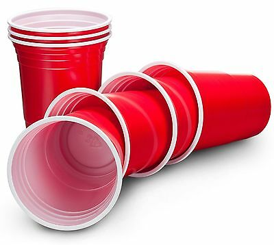 20 x Large 18oz American Red Drinking Cups Party Solo Disposable Bar Beer Pong