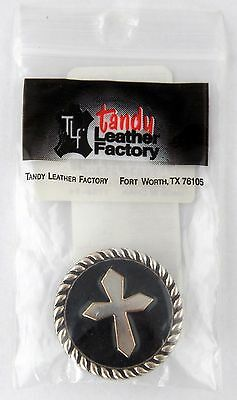 "Texas Star Concho 1-7//16/"" 30 mm Tandy Catalog #11373-36  New"