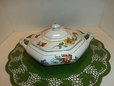"""Thompson"" Vintage crackeled soup tureen with lid--no chips"