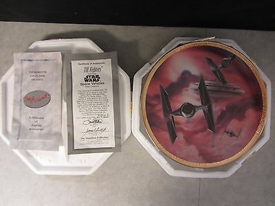 Star Wars TIE Fighters ~ Space Vehicles Hamilton Plate Collection ~ COA #2912D