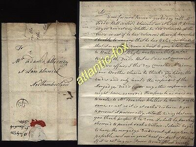 1770 WALTHAM ABBEY letter from J.Marshall to Thomas Adams, Alnwick