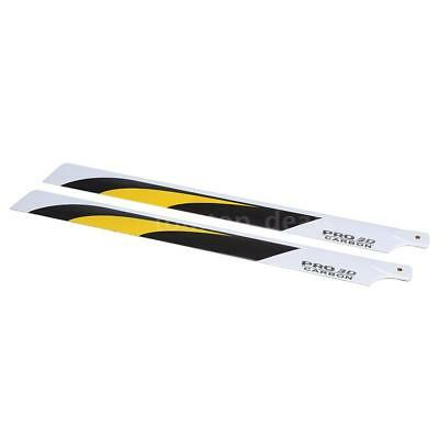 High Performance Carbon Fiber 550mm Main Blades for RC 550 Helicopter E1D1