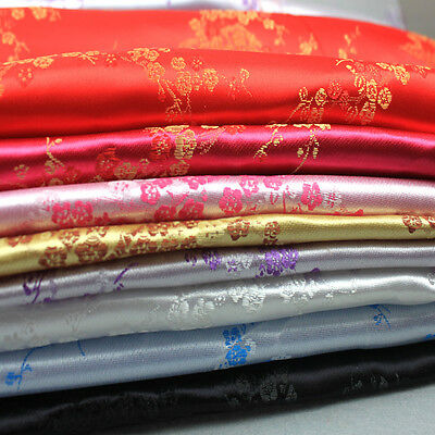 Floral Embroidery Brocade Fabric Damask Costume Table Cloth Drape 90cm*100cm New