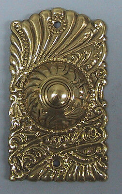 NON Lighted Doorbell Button Solid Brass door bell Polished Brass Roanoke