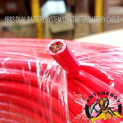 6 B&s Single Core Cable Dual Battery System 12V  6 Metres Red Cover 6Bs Bs New
