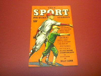 TRUE SPORT PICTURE STORIES Volume 3 #1 Street & Smith 1945 baseball football