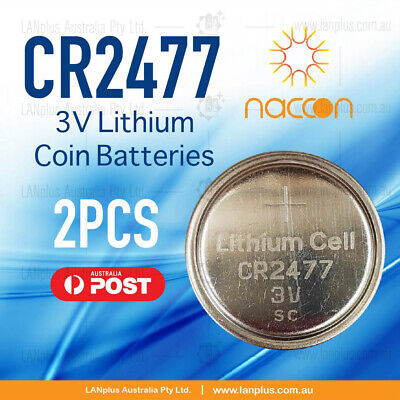2x CR2477 3V Lithium Batteries STOCK IN Melbourne Button Coin CR-2477 CR2477/BN