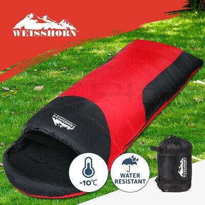 Weisshorn 2X Sleeping Bag Bags Single Compact Camping Hiking -10°C Tent Winter