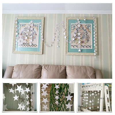 4m Star Paper Garland Bunting Banner Drop Baby Wedding Shower Party Decoration