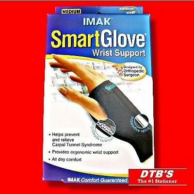 Imak Smartglove Smart Glove Thumb & Wrist Support Brace Rsi&cts Keyboard Mouse
