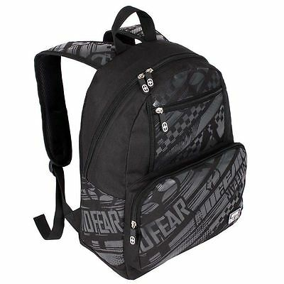 No Fear Graffiti Back Pack Travel Luggage Everyday Casual Bag Accessories