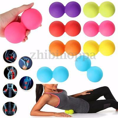 Double Massage Lacrosse Ball Injury Rehab Therapy Trigger Point Gym Yoga Tool