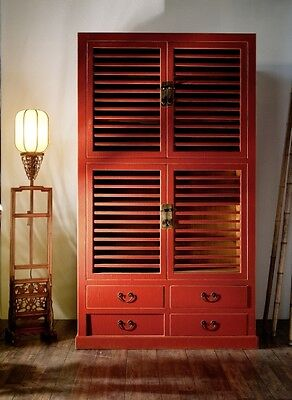 Red Wedding Cabinet Wardrobe Cabinet China Solid Wood Furniture Asia