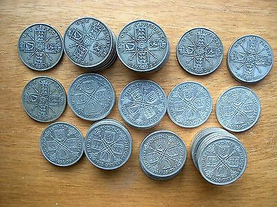 George V Florins all 0.500 Silver 1920 to 1936 - Choose your date