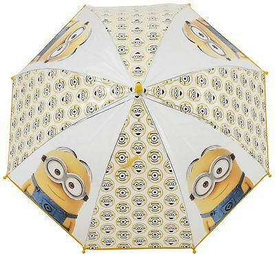 Minions Umbrella Despicable Me Bubble Kids Fun Gift Rain Brolly Waterproof Dome