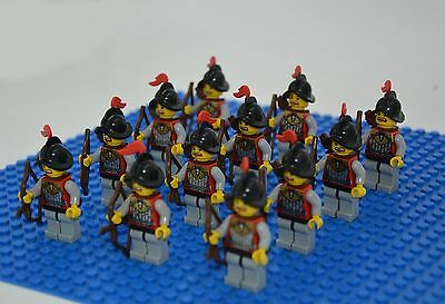 Lots 12 sets Castle Knights Archers  Minifigures building toy new  in bags