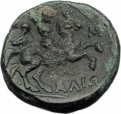 PHARSALOS in THESSALY 400BC Athena Horseman Footman Ancient Greek Coin i56280