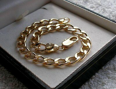 GENUINE 9ct GOLD CURB BRACELET GF THIS IS STUNNING! REF 015