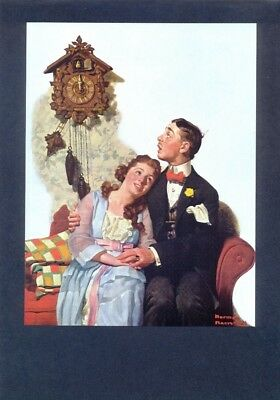 "NORMAN ROCKWELL print /""MARRIAGE LICENSE/"" Application 11x 15/"" or 8x10/"" Poster"