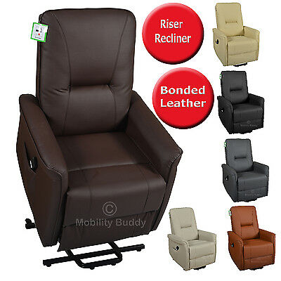 Milano Bonded Leather Riser Rise Recliner Single Motor Lift Chair