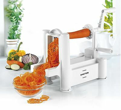 Salter BW04294 Multi-Purpose 3 Blade White Fruit And Vegetable Spiralizer