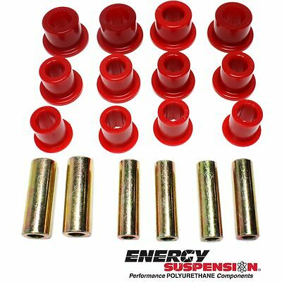 Energy Susp New 2-spring-and-shackle set Leaf Spring Bushings Front F250 Truck