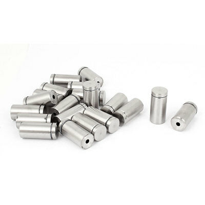Stainless Steel Picture Frame Glass Standoff Hardware Mount Bolt Clamp 20 PCS
